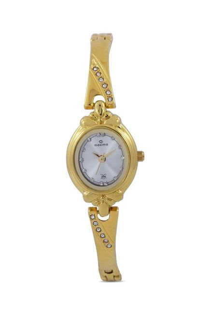 Maxima 29375BMLY Formal Gold Analog Watch for Women