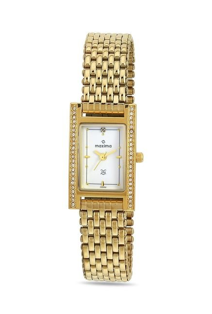 Maxima 15262CMLY Formal Gold Analog Watch for Women