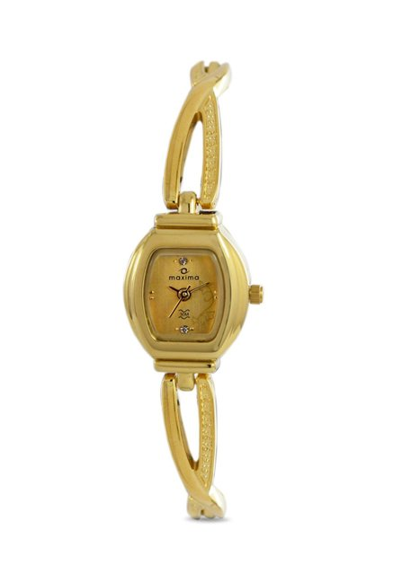 Maxima 07198BMLY Formal Gold Analog Watch for Women