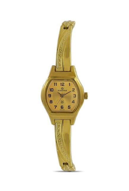 Maxima 09439BPLY Formal Gold Analog Watch for Women