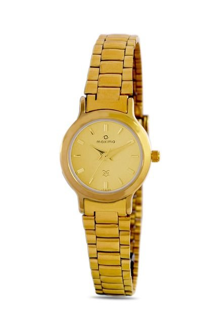 Maxima 17330CMLY Formal Gold Analog Watch for Women