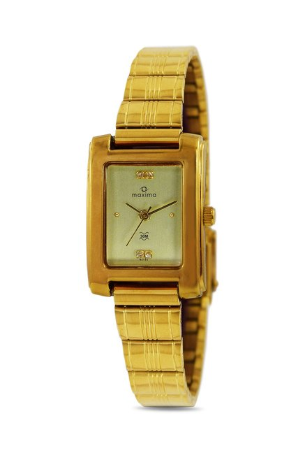 Maxima 02414CPLY Formal Gold Analog Watch for Women