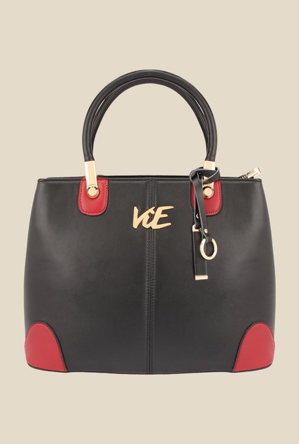 ViE Black Solid Handbag