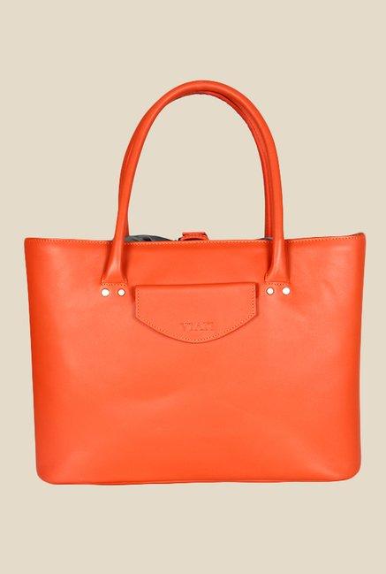 Viari Soho Orange Leather Handbag