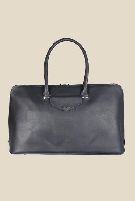 Viari Soho Dark Blue Leather Handbag