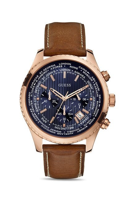 Guess W0500G1 Navy Blue Dial Chronograph Men's Watch (W0500G1)