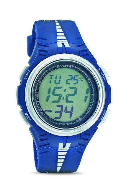 Sonata 7965PP01 Super Fibre Digital Watch for Men