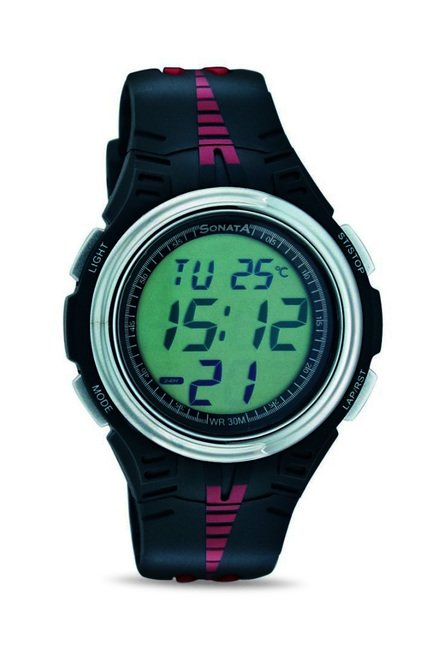 Sonata 7965PP02 Super Fibre Digital Watch for Men