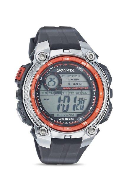 buy sonata 7993pp02 super fibre ocean digital watch for men online rh tatacliq com