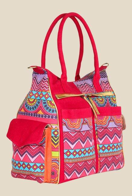 109 F Multi Coloured Printed Handbags