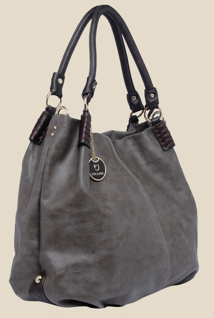 Buy Fur Jaden Grey Textured Handbag Online At Best Price   Tata CLiQ 49ae5cb33b720