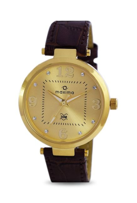 Maxima 32120LMLY Formal Gold Analog Watch for Women