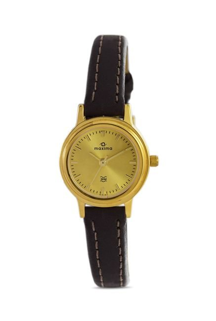 Maxima 05191LMLY Formal Gold Analog Watch for Women