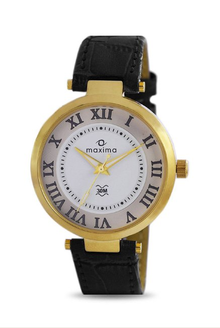 Maxima 32121LMLY Formal Gold Analog Watch for Women