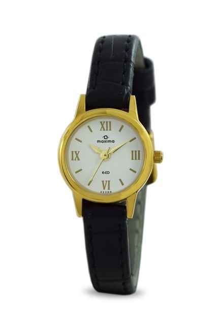 Maxima 32200LMLY Formal Gold Analog Watch for Women