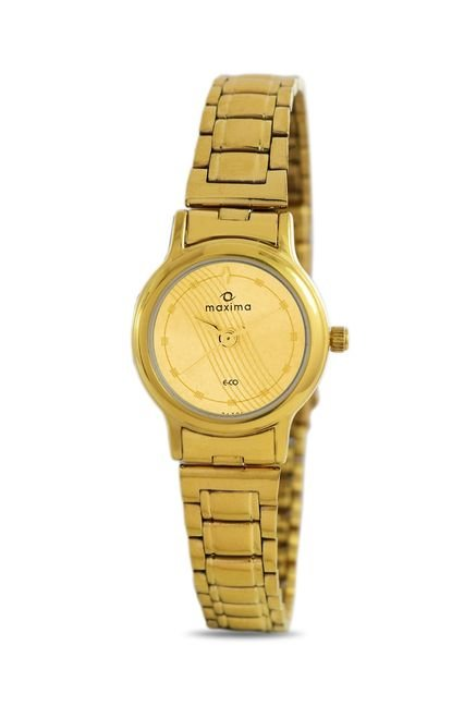 Maxima 26791CMLY Formal Gold Analog Watch for Women
