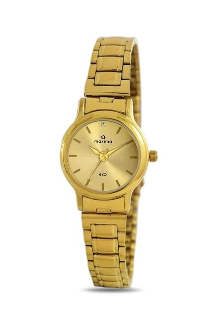 Maxima 26790CMLY Formal Gold Analog Watch for Women