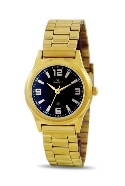 Maxima 34801CMLY Formal Gold Analog Watch for Women