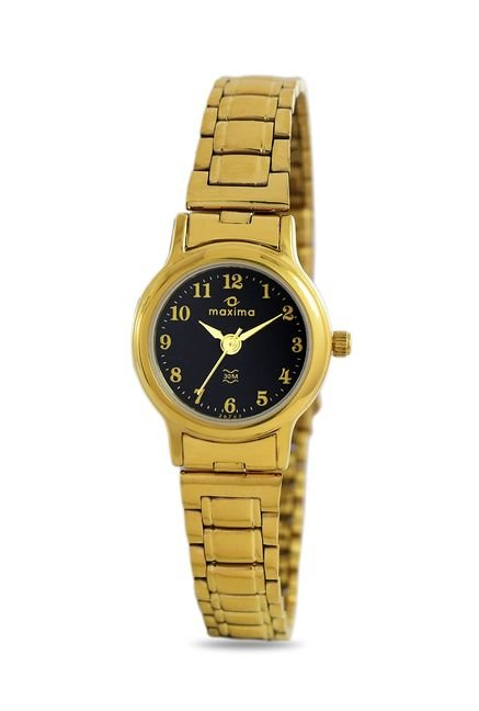 Maxima 26793CMLY Formal Gold Analog Watch for Women