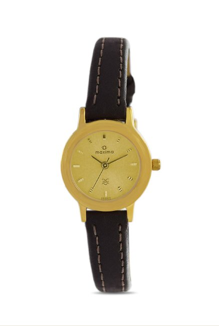 Maxima 05200LMLY Formal Gold Analog Watch for Women
