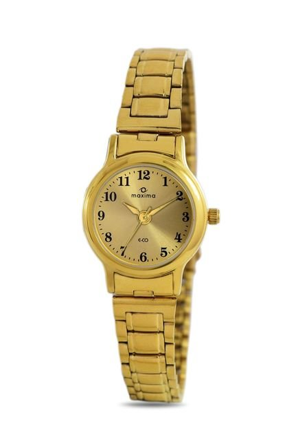 Maxima 26794CMLY Formal Gold Analog Watch for Women
