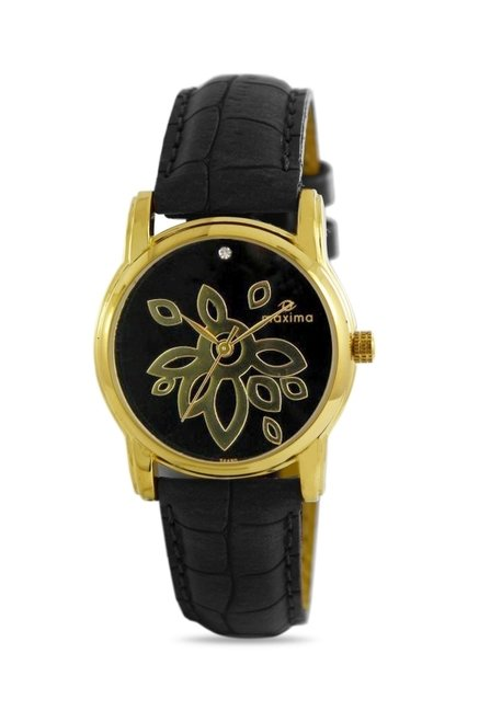 Maxima 24490LMLY Formal Gold Analog Watch for Women