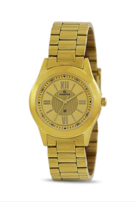 Maxima 34701CMLY Formal Gold Analog Watch for Women