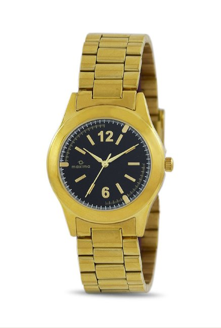 Maxima 34703CMLY Formal Gold Analog Watch for Women