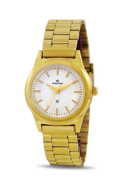 Maxima 34800CMLY Formal Gold Analog Watch for Women