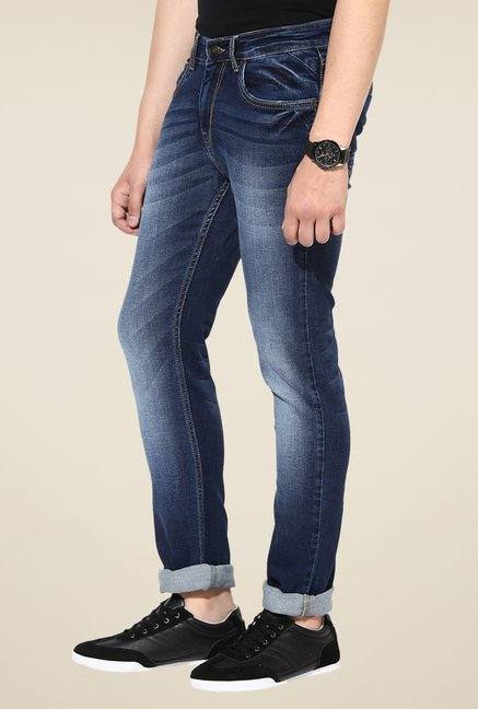 Turtle Navy Cotton Jeans