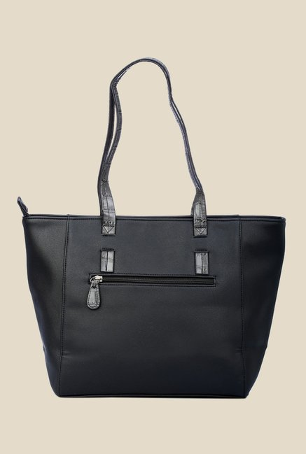 7a6e2ab80142 Buy Caprese Evana Black Double Strap Tote Bag Online At Best Price ...