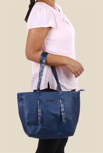 e4c4d105a655 Buy Caprese Evana Blue Double Strap Tote Bag Online At Best Price ...