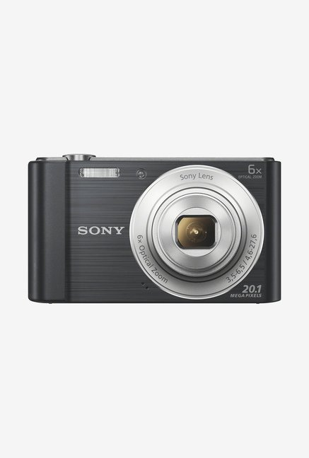 Sony Cyber shot DSC W810 20.1 MP Point   Shoot Camera with 16 GB SD Card and Carry Case  Black