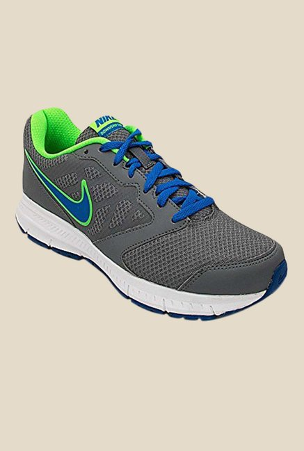 Buy Nike Downshifter 6 MSL Grey   Soar Blue Running Shoes for Men at Best  Price   Tata CLiQ 946c42d37cad