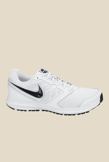 03c27bac27a Buy Nike Downshifter 6 MSL White   Black Running Shoes for Men at Best Price    Tata CLiQ