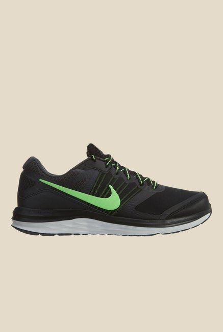 7a400ac17cd Buy Nike Dual Fusion X MSL Black   Green Running Shoes for Men at ...
