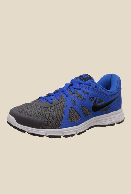 2b58f3868469 Buy Nike Revolution 2 MSL Dark Grey   Soar Blue Running Shoes for Men at  Best Price   Tata CLiQ