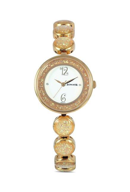 Sonata 8136YM04C Glamors Analog Watch for Women