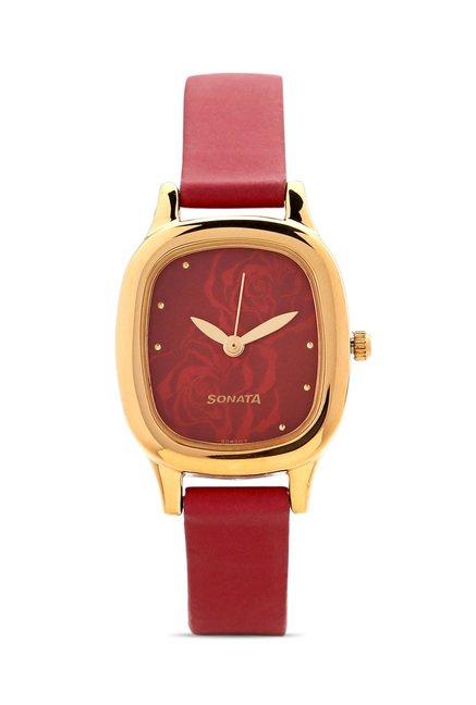 Sonata NG8060YL03C Yuva Analog Watch for Women
