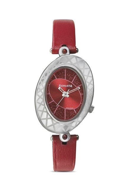 Sonata 8125SL03C Glitterati 2 Analog Watch for Women