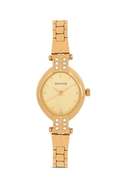 Sonata NG8064YM01C Sona Sitara Analog Watch for Women