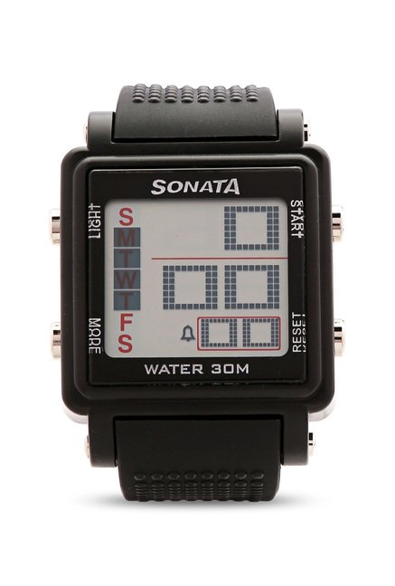 Sonata 77043PP01 Super Fibre Digital Grey Dial Men's Watch