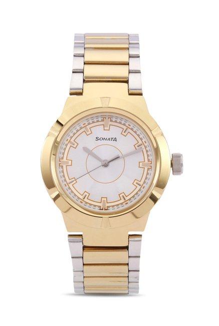 Sonata 8138BM01C Professional Analog Watch for Women