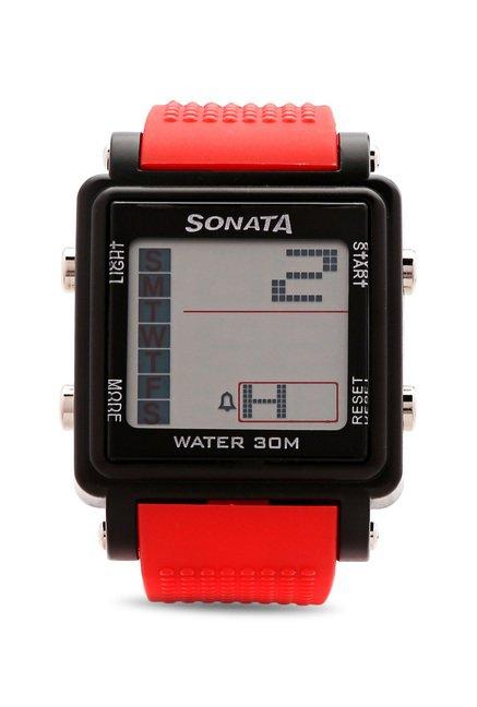 Sonata NH77043PP03 Super Fibre Digital Grey Dial Men's Watch (NH77043PP03)