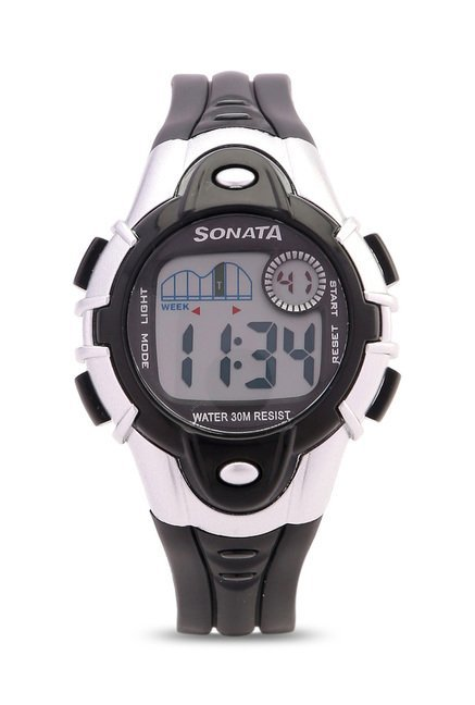 Sonata NH87012PP04 Super Fibre XI Digital Unisex Watches (NH87012PP04)