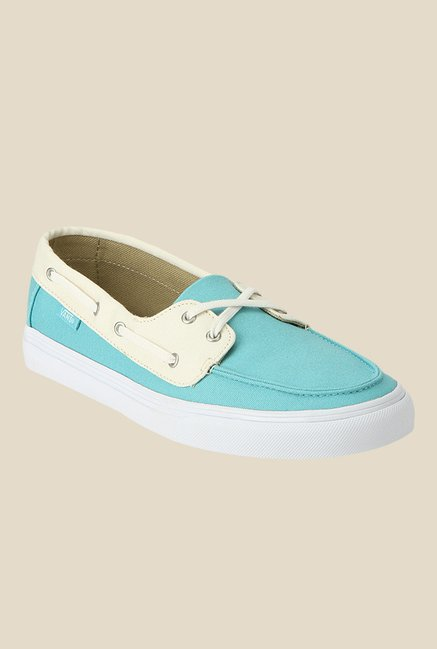 1c7e2eb1fdd07d Buy Vans Chauffette SF Turquoise   Beige Boat Shoes for Women at Best Price    Tata CLiQ