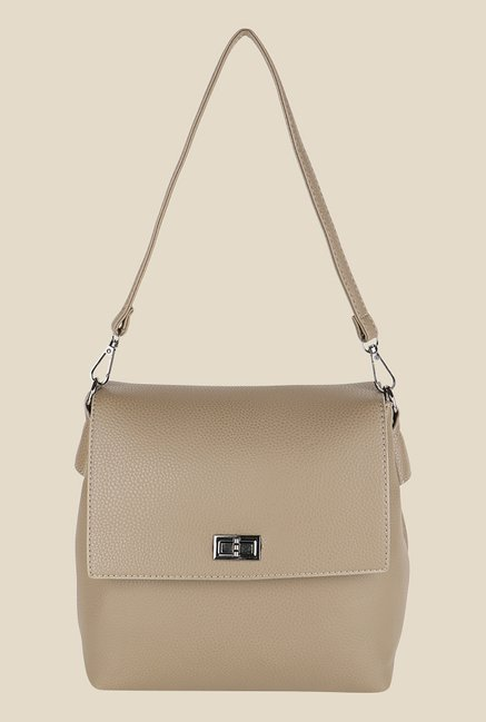 0bfd5efb6a Buy Lino Perros Beige Solid Sling Bag Online At Best Price @ Tata CLiQ