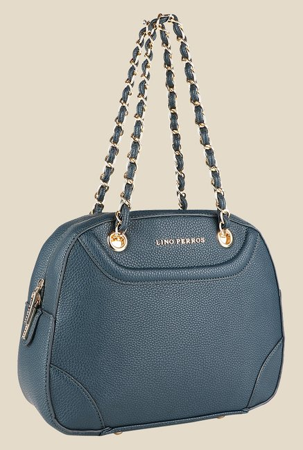Lino Perros Blue Textured Handbag