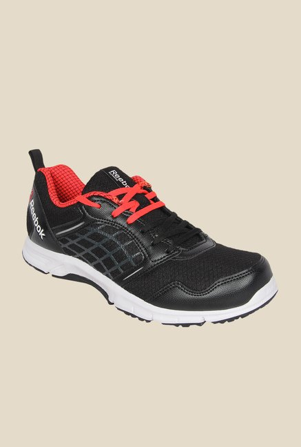Buy Reebok Road Rush Black   Red Running Shoes for Men at Best ... 59bf91660