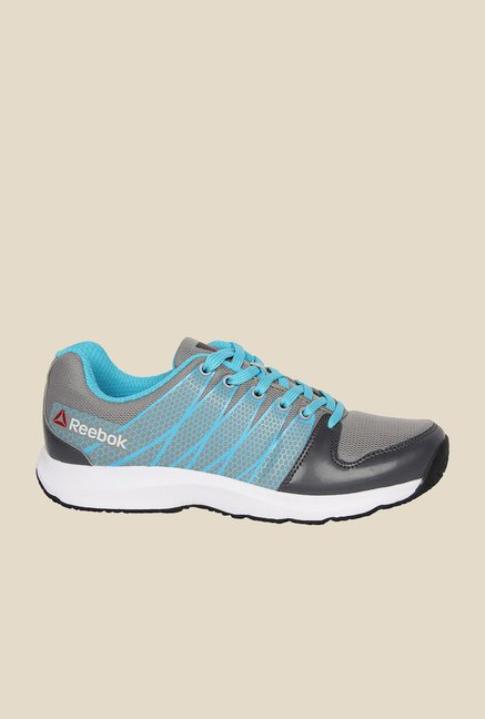 cffb00b29 Buy Reebok Cool Traction Blue   Grey Running Shoes for Women at Best ...